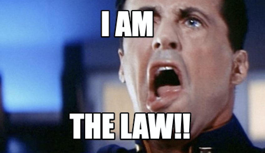 Sylvester Stallone I am the Law meme