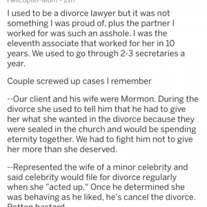 Divorce Lawyers Share Screwed Up Stories